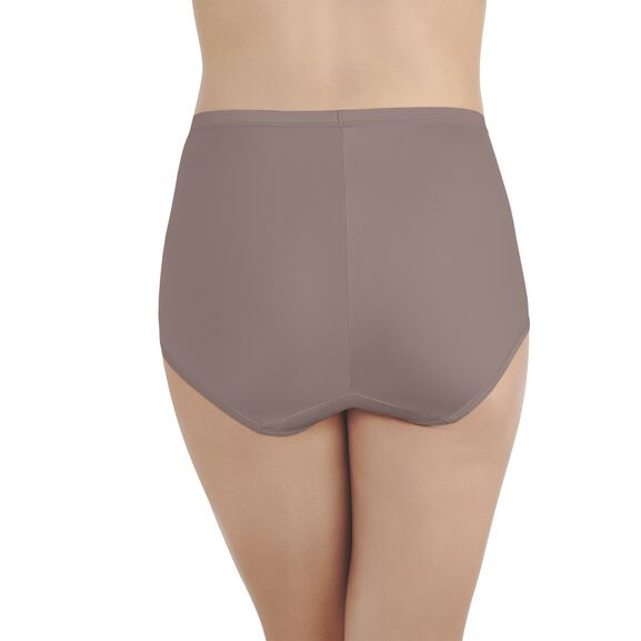 Smoothing Comfort Brief Panty with Lace Walnut