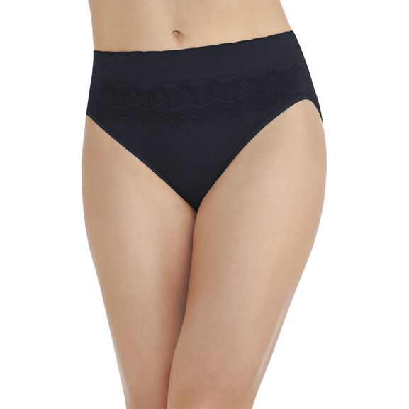 No Pinch No Show Seamless Hi-Cut Panty Midnight Black