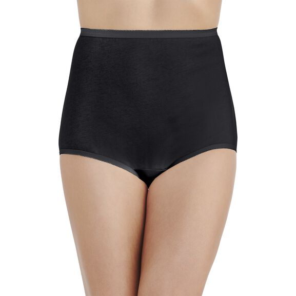 Perfectly Yours® Tailored Cotton Full Brief Panty Midnight Black