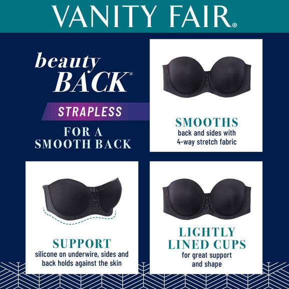 Beauty Back Underwire Smoothing Strapless Bra Star White