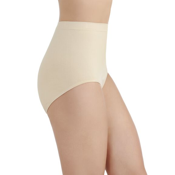 Perfectly Yours Seamless Tailored Full Brief Panty Damask Neutral
