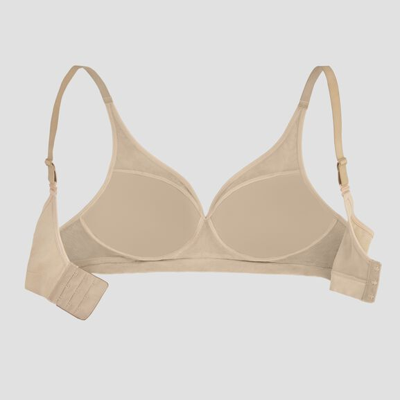 Breathable Luxe Full Coverage Seamless Wirefree Honey Beige