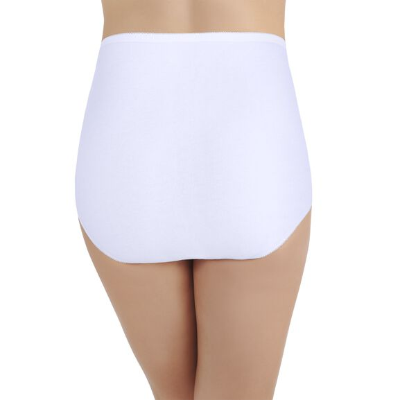 Perfectly Yours Tailored Cotton Full Brief Panty Star White