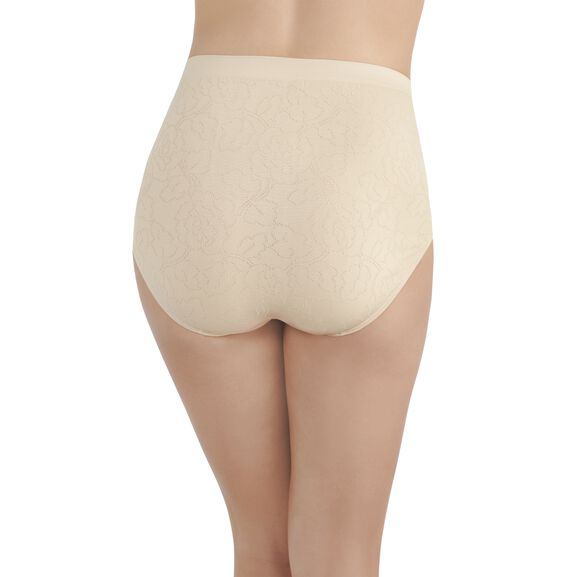 Perfectly Yours Seamless Jacquard Full Brief Panty Damask Neutral