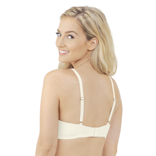 Breathable Luxe Full Coverage Padded Underwire Bra Coconut White
