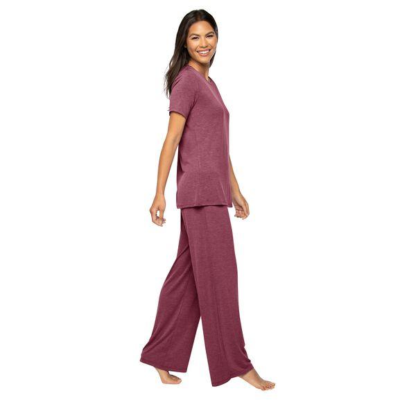 Short Sleeve Pajama Set Sunset Rose Heather
