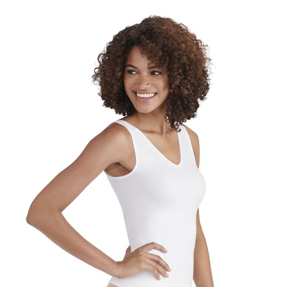 Everyday Layers Seamless Smoothing Spin Tank Star  White