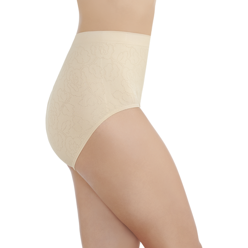 Perfectly Yours® Seamless Jacquard Brief Damask Neutral