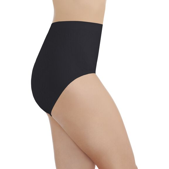 Perfectly Yours® Seamless Jacquard Full Brief Panty Midnight Black