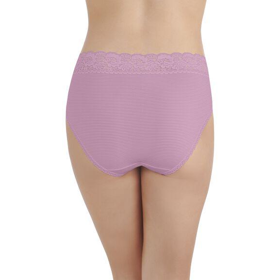 Flattering Lace Hi-Cut Panty LIGHTLY LILAC STRIPE