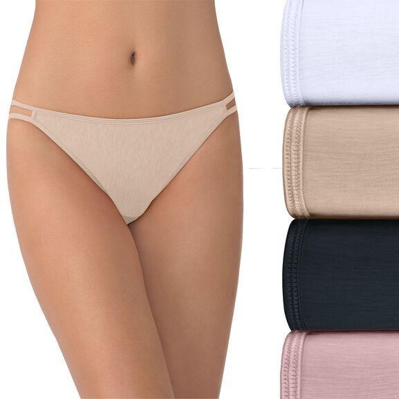 String Bikini Panty, 4 Pack Multi