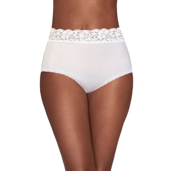 Flattering Lace Brief Panty Star White