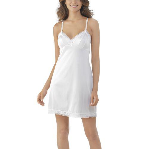 Rosette Lace™ Full Slip Star White