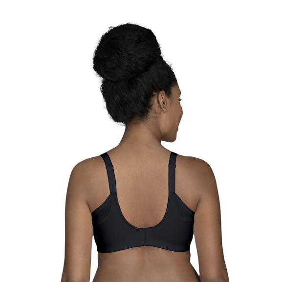 Full Figure Wirefree Extended Side and Back Smoother Bra Midnight Black