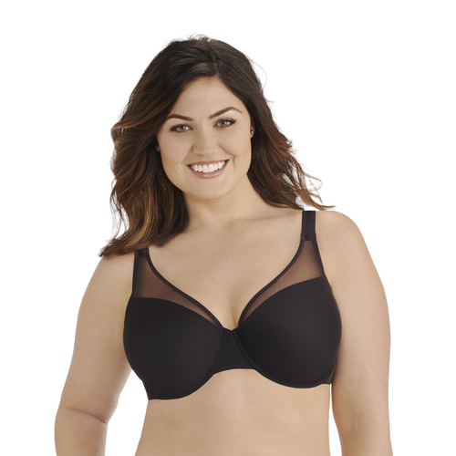 Breathable Luxe Full Figure Underwire Midnight Black