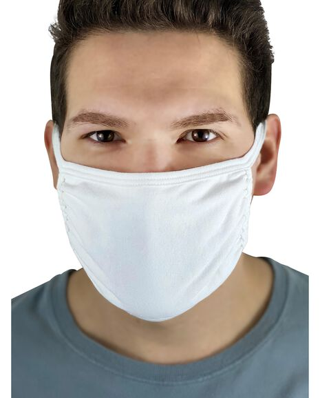 Reusable Cotton Face Mask Non-Medical, 5 Pack White